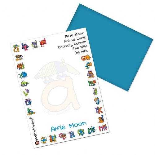 Personalised Bang On The Door Animal Alphabet Boys Paper